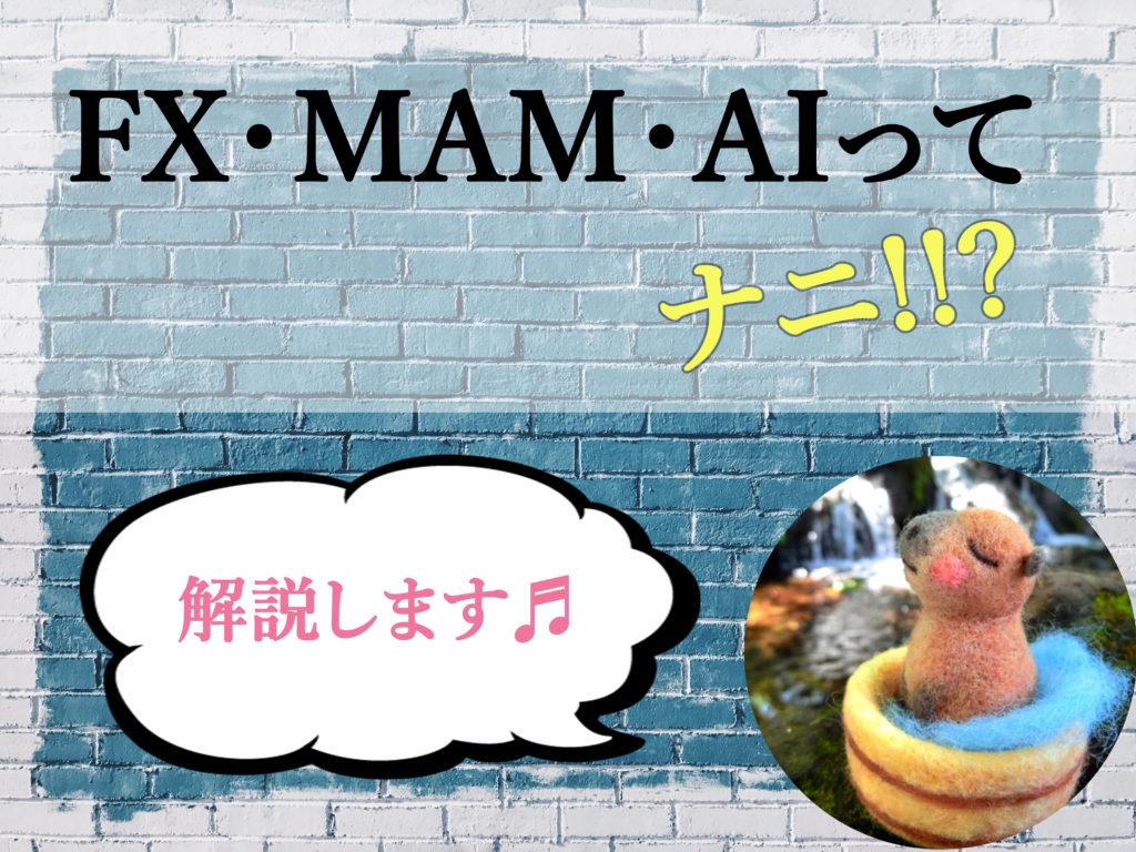 FX・MAM・AIってナニ?